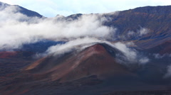 Maui, Hawaii Haleakala Mountain Clouds Sky Timelapse  4k UHD Stock Footage