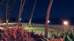 Maui, Hawaii Makena Beach Night 4K UHD Stock Footage