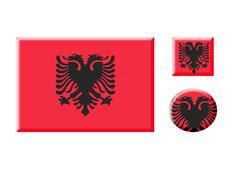 Albania icons set Stock Illustration
