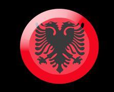 albania icons set - stock illustration