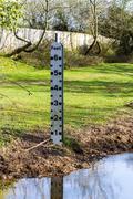 River level indicator - stock photo
