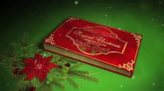 Magical Christmas Book Stock After Effects