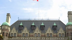 The roof of the Empress Hotel Stock Footage