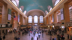 New York City Grand Central Terminal Station Iconic Timelapse 4K UHD Stock Footage