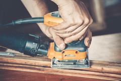 Male carpenter at work Stock Photos