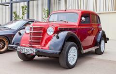 Vintage soviet automobile Moskvich-401 - stock photo