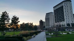 Eastside City Park Birmingham Uk Stock Footage