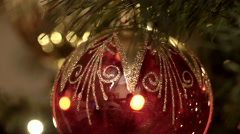 Christmas tree decorations Stock Footage