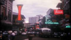 2936 - Panama City, busy street scene - vintage film home movie Stock Footage