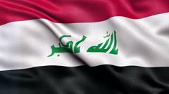 4K Iraq flag seamless loop Ultra-HD Stock Footage