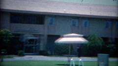 1965: Hialeah Park building under construction historic Sands Casino tower.  Stock Footage