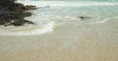 Ocean wave ebb tide - stock footage