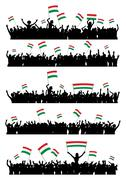 Cheering or Protesting Crowd Hungary - stock illustration