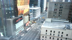 New York City Manhattan Day Traffic & Building Timealpse 4K UHD Stock Footage
