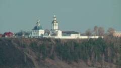 Cvyato-Znamensky Abalaksky man's monastery Stock Footage