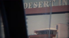 1965: Desert Inn Hotel Casino with marquee sign of coming attractions.   - stock footage