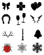 Stock Illustration of winter icons