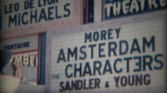 1965: Casbar Theater giant marquee signs of performance arts talent. LAS VEGAS - stock footage