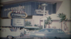 1965: Legendary Don the Beachcomber bar lounge downtown. LAS VEGAS Stock Footage