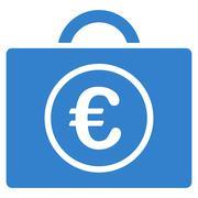 Euro Bookkeeping Icon Stock Illustration