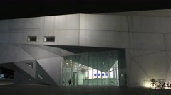 Pan: Tel Aviv Museum of Art building Israel Stock Footage