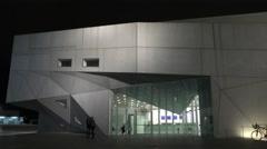 TEL AVIV, ISRAEL: Tel Aviv Museum of Art building Israel Stock Footage