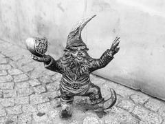 WrocLovek dwarf figurine in Wroclaw - stock photo