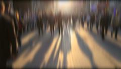 Blurry crowd and shadows on beyoglu street Stock Footage