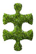 Puzzle Leaf texture. - stock illustration