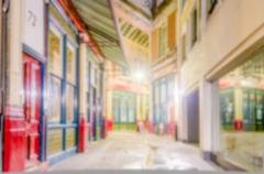Defocused background of Leadenhall Market in London Kuvituskuvat
