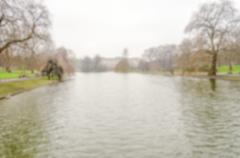 Defocused background of St James's Park Lake, London Stock Photos