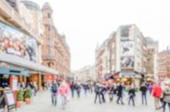 Defocused background of the West End of London Stock Photos