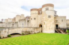 Defocused background of the Tower of London, UK - stock photo