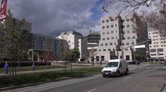 Los Angeles - Westwood Village UCLA Medical Plaza Medium Shot Stock Footage