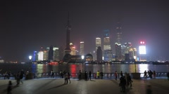 Time Lapse Shanghai Skyline Stock Footage