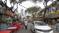 Time Lapse Jalan Alor food street Stock Footage