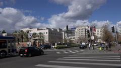 Los Angeles - Westwood Village UCLA Medical Plaza Wide Shot Stock Footage