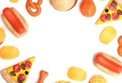 Artificial Plastic Food - Examining today's food industry Stock Photos