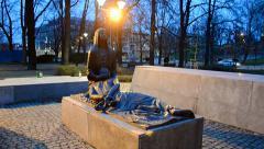 Katyn massacre memorial in Wroclaw (aka Breslau), Poland. Stock Footage