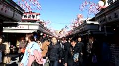Time Lapse Asakusa TOKYO JAPAN Stock Footage