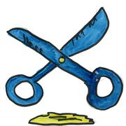 Stock Illustration of scissors isolated on white background