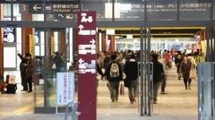 Time Lapse Kanazawa Station in Japan Stock Footage