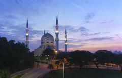 The beautiful Sultan Salahuddin Abdul Aziz Shah Mosque. Stock Photos
