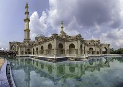 Stock Photo of The Federal Territory mosque, Kuala Lumpur Malaysia during sunny day. Image h