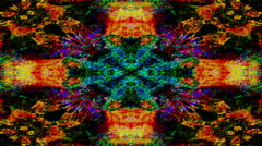 Kaleidoscopic abstract forms shift and flicker - Video Background 2245 HD, 4K Stock Footage