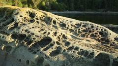 Weather Worn Rocks, Pacific Northwest - stock footage