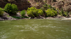 View of wild Colorado River rapids in America mountain - stock footage
