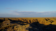 American Badlands vivid canyon rock formations - stock footage