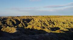 USA Badlands view of sandstone Buttes desert Prairie Landscape - stock footage