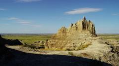 USA Buttes car drive Badlands South Dakota National Park - stock footage